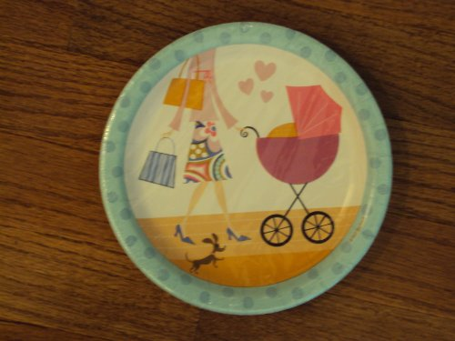 Contempo Mom Baby Shower DessertPlates 12 ct.