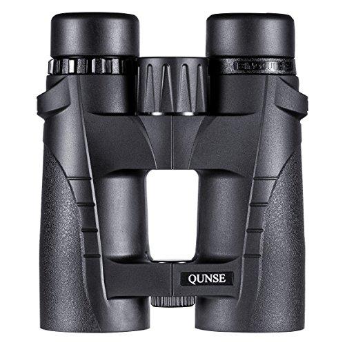 QUNSE® Binocolo Telescopio con ampio campo visivo per viaggiatori-HD 8X42 impermeabile ed antipolvere-Nuovo modello leggero e portatile per chiara osservazione degli uccelli