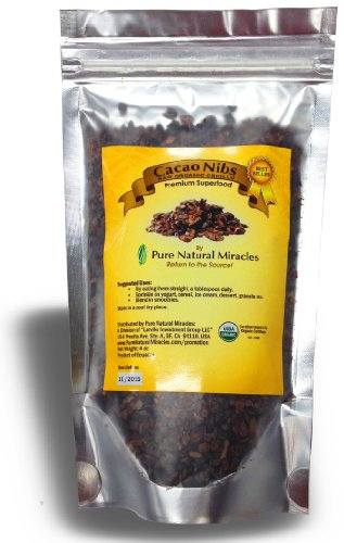 Organic Raw Cacao Nibs, Unsweetened, Highest Antioxidant Superfood, Satisfaction Guaranteed.