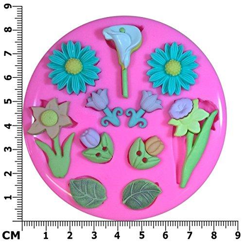 Printemps fleurs Daisy Tulip jonquille Lilly Moule en silicone Moule pour décoration gâteau glaçage pour gâteau Sugarcraft outil de fées Blessings