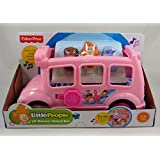 Fisher Price Little People Lil' Movers Pink School Bus Ages 1-5 Years