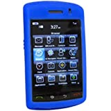 Amzer Silicone Skin Jelly Case Compatible For Blackberry Storm 9500 - Blue