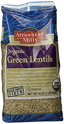 Arrowhead Mills Organic Green Lentils, 16 Ounce (Pack of 6) by Arrowhead Mills