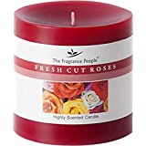 The Fragrance People Fresh Cut Rose Wax Candle (7.62 Cm X 7.62 Cm X 7.62 Cm, Red)