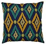 Van Ness Studio Modern IKAT Decorative Throw Pillow, Navy
