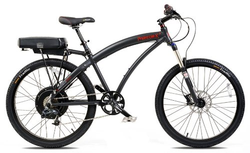 Prodecotech Phantom X3 36V 500W 8 Speed Electric Bicycle, Matte Black, 18-Inch/Large