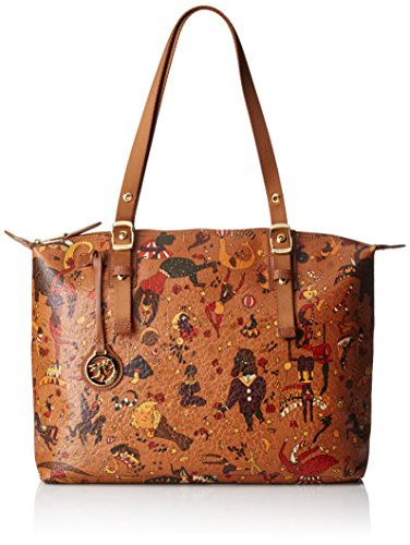 Piero Guidi Magic Circus Vintage Borsa a Tracolla, 36 cm, Cannella