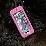 Merit™ iPhone 6 Waterproof Case IP68 Waterproof Shockproof Snowproof Dirtpoof Protection Case Cover with Fingerprint ID for iPhone 6 4.7inch (Pink)