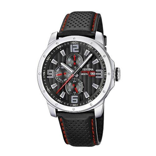 5abb9dc6b Men s Watch Festina F16585 8 Leather Band Black Dial - Erick Castro ...