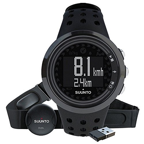 Suunto M5 All Black - Reloj deportivo (Dot-matrix, 43.6 x 43.6 x 13 mm, 40 g, Negro, Incorporado, -10 - 50 °C)