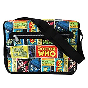 Official Doctor Who Comic Print Design Messenger Shoulder Bag