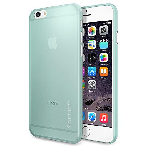 iPhone6 ケース Spigen [薄さ0.4mm] エアースキン Apple iPhone 4.7 (2014) (国内正規品) (ミント SGP11080)
