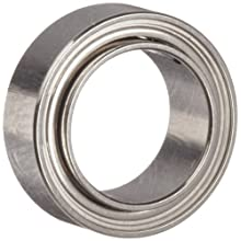 Dynaroll Precision Miniature Ball Bearing, ABEC-5, Double Shielded, Extended Inner Ring, Stainless Steel