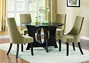 "DARK ESPRESSO VENEER TOP 52""DIA DINING TABLE (SIZE: 52L X 52W X 30H)"