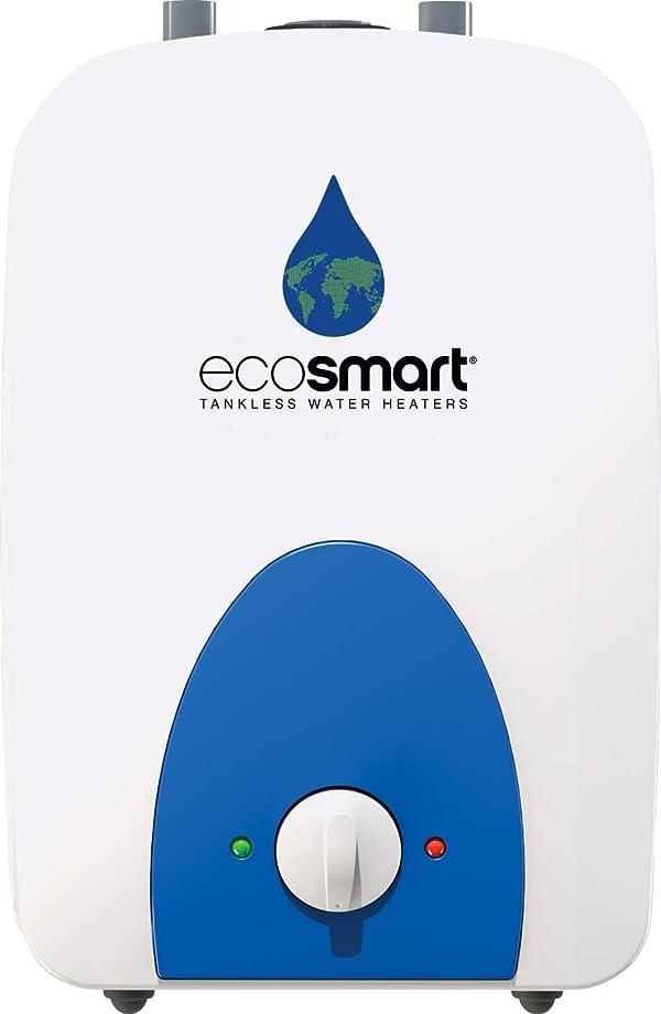 Ecosmart ECOMINI6 Electric Mini Tank Water Heater, ECO 6, White (Color: White, Tamaño: ECO MINI 6)