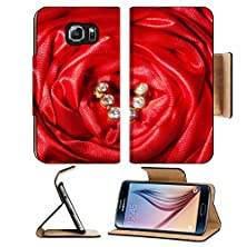 buy Liili Samsung Galaxy S6 Flip Pu Leather Wallet Case Wedding Rings On A Colorful Fabric Background Image Id 28019239