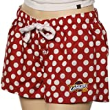 NCAA Cleveland Cavaliers Ladies Wine Polka Dot Galaxy Pajama Shorts (Large) Amazon.com