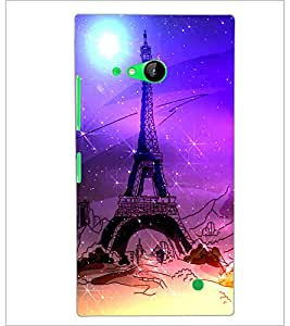 PrintDhaba Tower D-4893 Back Case Cover for NOKIA LUMIA 730 (Multi-Coloured)