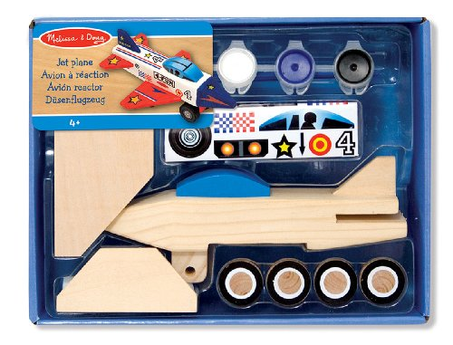 Melissa & Doug Wooden Jet Plane - Decorate-Your-Own