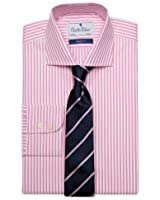 Charles Wilson Men's Regular Fit Button Cuff Formal Shirt