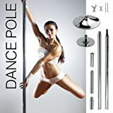 New Pro Portable Stripper Fitness Exercise Stripper Weight Loss Club Spin Spinning Professional Dance Dancing Strip Spinning Pole 45mm