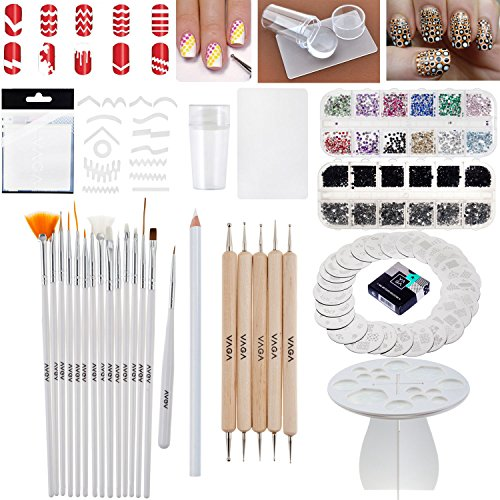 Nail Art Set of Assorted Tools and Decorations (Nail Art Supplies Wholesale compare prices)