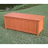International Caravan International Caravan Royal Tahiti Outdoor Balau Storage Bench, All Other Colors, Wood