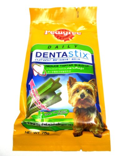 Pedigree Daily Dentastix Toy To Small Dog Green Tea Flavour, Reduce Tartar 75G front-481090