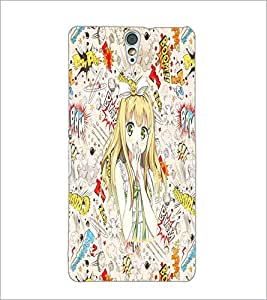 PrintDhaba Green Eyes Doll D-1121 Back Case Cover for SONY XPERIA C5 ULTRA (Multi-Coloured)