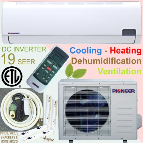 Buy Discount Pioneer Ductless Mini Split INVERTER Air Conditioner, Heat Pump, 9000 BTU (3/4 Ton), 19...