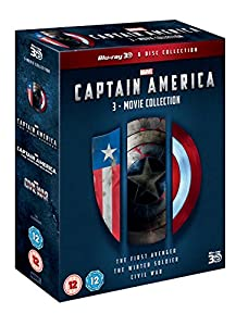 Captain America: 3-Movie Collection (Blu-ray 3D) [Region Free] [UK Import]