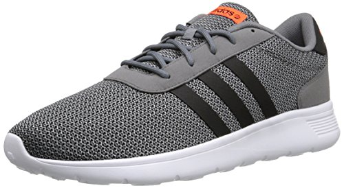 adidas NEO Men's Lite Racer Lifestyle Runner Sneaker, Grey/Black/Running White, 4 M US