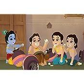 TMS Bal Krishna Cartoon Wall Poster (Paper, 45.27 Cm X 30.48 Cm)