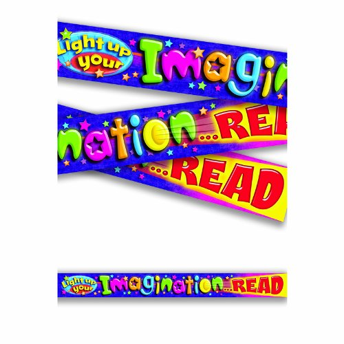 "Trend Enterprises ""Light Up Your Imagination...READ"" Banner (T-25052)"