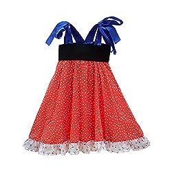 Aummade Girls Dress (Aummade020_Red_2-3 years)