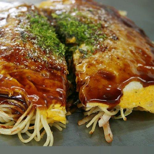 広島風お好み焼き 5枚セット 手作り焼きたて 冷凍便 (ソバ入2枚うどん入3枚)