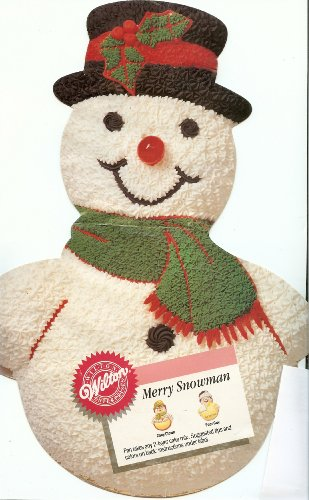 Wilton Merry Snowman Christmas Holiday Cake Pan (2105-803, 1989) Retired