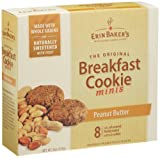 Erin Baker's Breakfast Cookie Minis Peanut Butter, 8-Count 8-Ounce Boxes (Pack of 6)