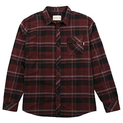 Active R/S Trespass Flannel Shirt in Burgundy - XL (Active Ride Shop Clothing compare prices)