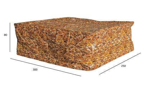 Luxus Schützhülle für XXL Gartenmöbel-Lounge Set , Schutzabdeckung mit einzigartigem Herbstblatt Druck, Schwerlast 220 gr/m2