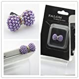 Big Dragonfly Crystal Bead Bowknot 3.5mm Headphone Jack Accessory Anti Dust Plug Cap for iPhone 5 iPhone 4 4s ,iPad ,iPod Touch 5,Samsung Galaxy S3 S4 Note Note 2,HTC Purple