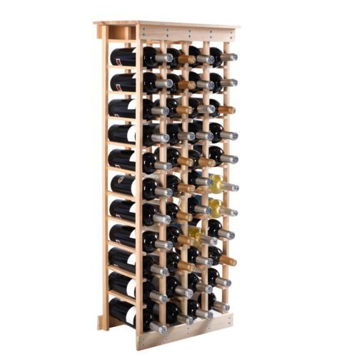 Wood Wine Holder - 44 Bottle Wood Wine Rack Storage Wine Bottle Holder (Wooden Wine Rack Free Standing compare prices)