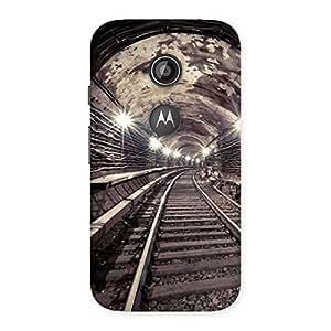Impressive Track in Tunnel Back Case Cover for Moto E 2nd Gen