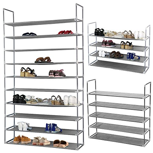 Yahee-10-Schicht-Schuhregal-Schuhschrank-Schuhablage-Schuhe-DIY-175-cm-x-100-cm-x-29-cm