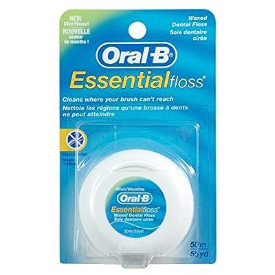 Oral-B Essentialfloss Ungewachst 50m (Zahnseide), 4er Pack (4 X 1 Stück)