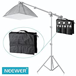 Neewer® SP-WCM Photo Video Studio Softbox Photo Holding Panel Boom Arm Bar Water Bag with 6 Outer Pouches (Black)