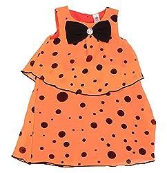 Style Loft Girls' Frock (FROCKS 20_2-3 Years, Peach, 2-3 Years)