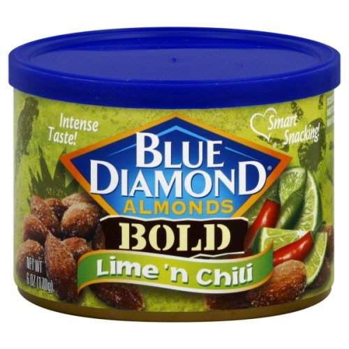 Blue Diamond Lime n' Chili Almonds Case of 12 six ounce cans (Blue Diamond Almonds Chili Lime compare prices)