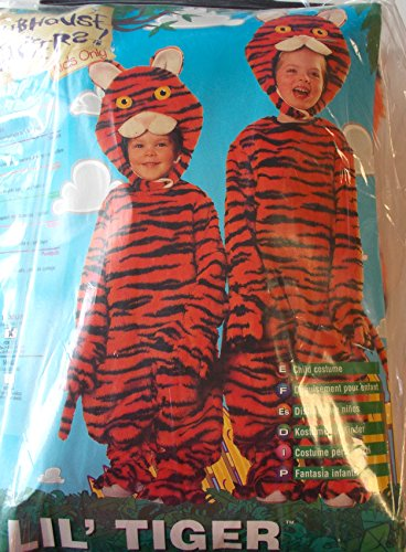 Lil Tiger Plush Jumpsuit Headpiece Costume Toddler 2-4 NWT
