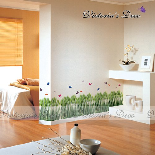 Home Decor Mural Art Wall Paper Stickers - Butterfly Yard PS58051